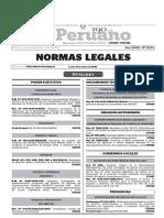 Normas Legales, lunes 11 de enero del 2016