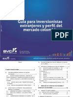 Colombian Market Profile and Foreign Investor's Guide-BVC