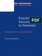 [Artemis Alexiadou] Functional Structure in Nominalizations