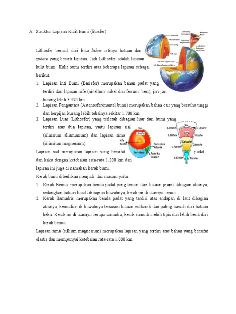 Struktur Lapisan Kulit Bumi