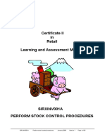 Perform Stock Control Procedures - A strategic guide