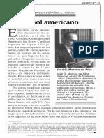 El Espanol Americano, Moreno de Alba