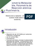 Espectrometría Molecular UV-Visible, Fotometría de Flama,