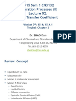 2015 CN3132 II Lecture 02 Mass Transfer Coefficient