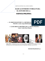 curso ciencia politica USAC 2015 libro El Objeto y El Metodo y Desarrolo Hstorico_texto 1