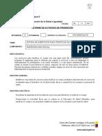 Informe de Actividad 2015