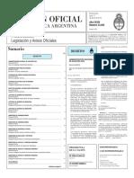 Boletín Oficial de la República Argentina, Número 33.293. 11 de enero de 2016