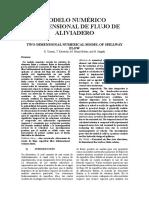 Modelo Numérico Bidimensional de Flujo de Aliviadero