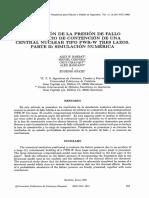 Evaluacion Presión de Fallo en Edificio Contención. Parte II - Simulacion