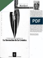 Rotker Susana - La Invención de La Crónica