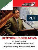 Gestión Legislativa de Mesías Guevara
