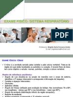Exame Físico - Sistemas Resp iratório e Cardiovascular