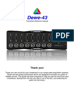 Dewe 43, Manual Intruction, dewesoft, DAQ