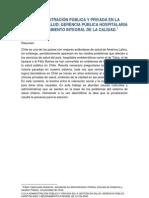 ADMINISTRACIÓN PÚBLICA Y ADMINISTRACIÓN PRIVADA EN SALUD