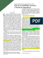 Analisis y Modelado de La Estabilidad Armonica Usando El Metodo de Impedancia
