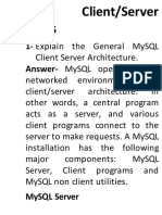 MySQL Questions Answers