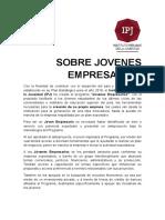 Sobre Jovenes Empresarios de Ipj