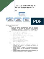Mof Del Area de Tecnologias de Informacion y Comunicación