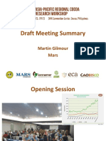 Asia Pacific Cocoa Research Workshop Summary_Martin Gilmour - 15Oct15