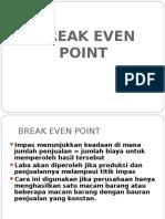 Analisis Break Even Point