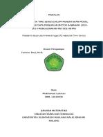 Analisis Data Time Series Dalam Menentukan Model Terbaik Dari Data Penjualan Motor Kawasaki 2010-2014 Menggunakan Metode Arima