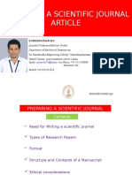 Research Article Preparation Ppt