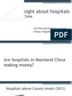 YOU Jingchun - A Little Insight About Hospitals in Mainland China (PPT)