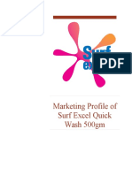 Marketing Profile of Surf Excel Quick Wash 500gm
