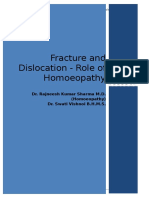 Fracture and Dislocation and Homoeopathy
