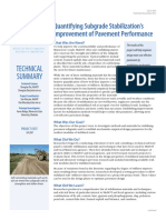 Quantifying Subgrade Stabilization's Improvement of Pavement Performance