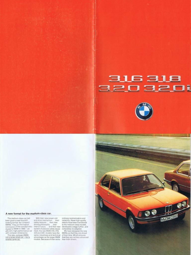 BMW E21 Betriebsanleitung 1977 3er Bedienungsanleitung 316 318 320 320i BA