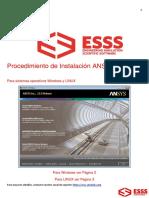Procedimiento de Instalacion ANSYS 15 0 - Windows & Linux