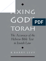 Fixing God's Torah; The Accuracy of the Hebrew Bible Text in Jewish Law (2001)