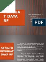 Penguat Daya RF Kel 5 JTD 2A 2015