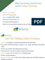 SAP ISU -Billing Invoicing  OnlineTrainingin usa