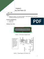 Praktek 6 AVR Display Data Pada LCD