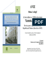AVIZ Editat Nr 3 2014 Economie Si Socilogie