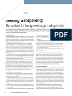 Seeking Transparency – The outlook for foreign exchange trading in Asia