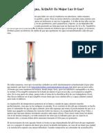Calentadores De Agua, ¿Qué Es Mejor Luz O Gas?