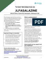 Paitent Infromation on Sulfasalazine