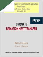 Heat 4e Chap13-Radiation HT Lecture-PDF