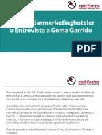 #tendenciasmarketinghotelero Entrevista a Gema Garrido