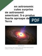 Fenomen Astronomic Spectaculos Surprins de Astronomii Americani