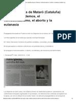 Dos Parroquias de Mataró (Cataluña) Amparan a Podemos, El Homosexualismo, El Aborto y La Eutanasia _ HazteOir