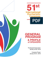 General Program and Speakers' Profile