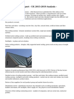 Roofing Market Report - UK 2015-2019 Analysis -
