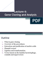Lecture 6-Gene Cloning