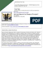 CASSEGARD Activism Beyond the Pleasure Principle