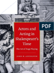 Actors and Acting in Shakespeare's Time the Art..