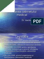 Înființarea Cabinetului Medical (1)